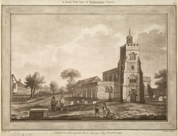 A North West View of Walthamstow Church